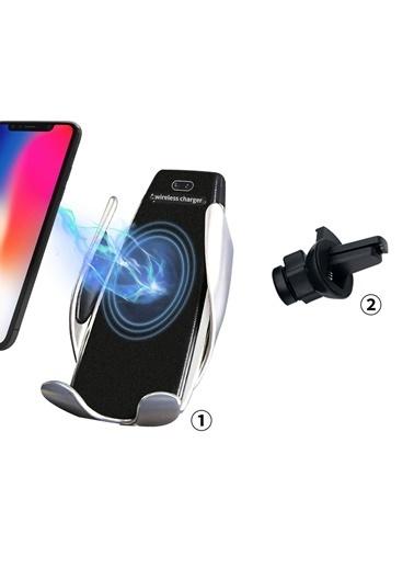 Microsonic Sensörlü Kablosuz Şarj Araç Telefon Tutucu Renkli